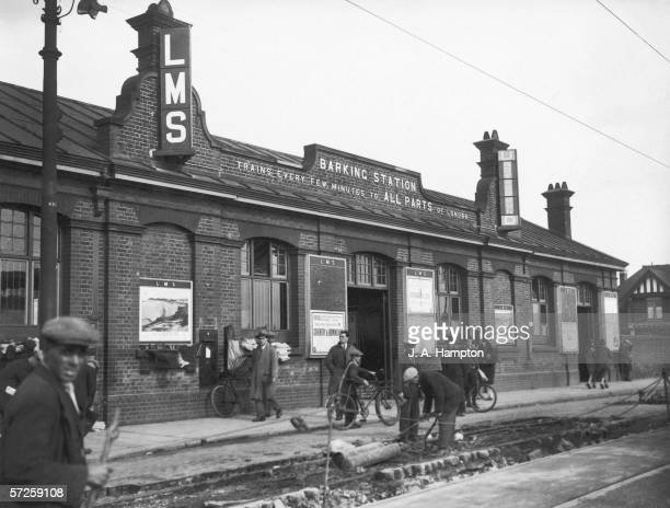 The rail and underground station in Barking Essex 30th September 1930