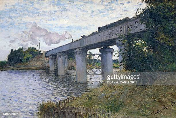 The railway bridge at Argenteuil 18731874 by Claude Monet oil on canvas 55x72 cm Paris Musée D'Orsay