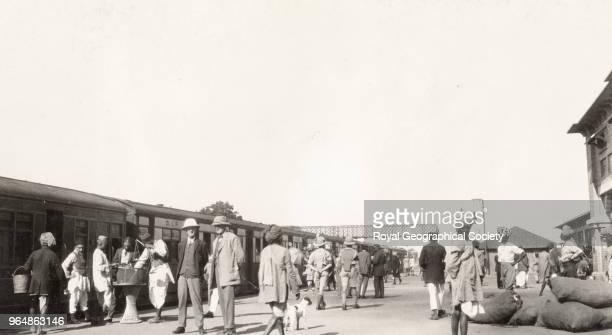 The railway station at Rawalpindi, Pakistan, 1929.