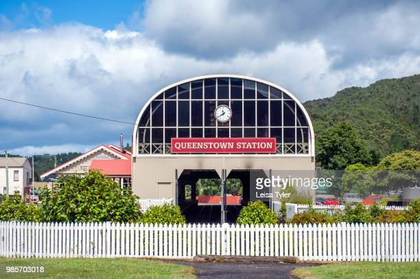 STATION QUEENSTOWN TASMANIA AUSTRALIA The railway station in Queenstown a mining town and former home to Mt Lyell Mining Company on Tasmania's West...