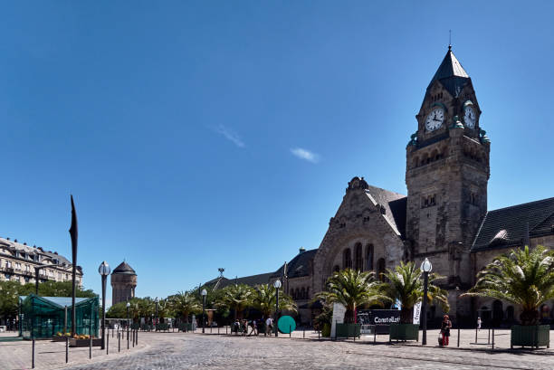 The railway station on the square Charles de Gaulle in Metz, France.