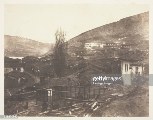 The Railway Street at Balaklava, 1855. A work made of salted paper print, from the album 'photographic pictures of the seat of war in the crimea' ....