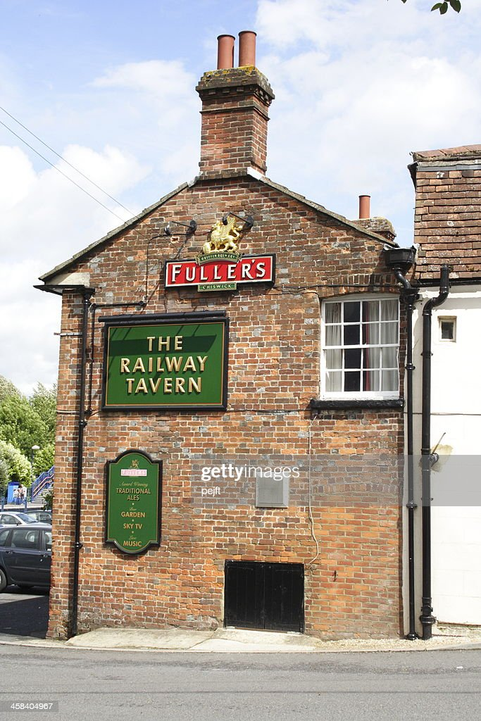 The Railway Tavern English Pub : Stock Photo