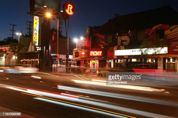 The Rainbow bar & grill and the Roxy on the Sunset Strip in Los Angeles, California on October 15, 2019. (Photo by Jim Steinfeldt/Michael Ochs...