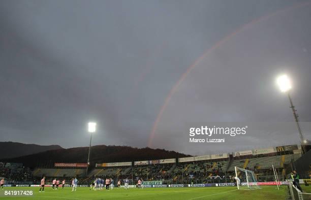 The rainbow during the Serie B between Brescia Calcio and US Citta di Palermo at Stadio Mario Rigamonti on September 2 2017 in Brescia Italy