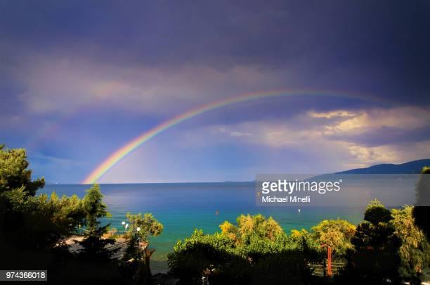 The Rainbow in Greece Sea
