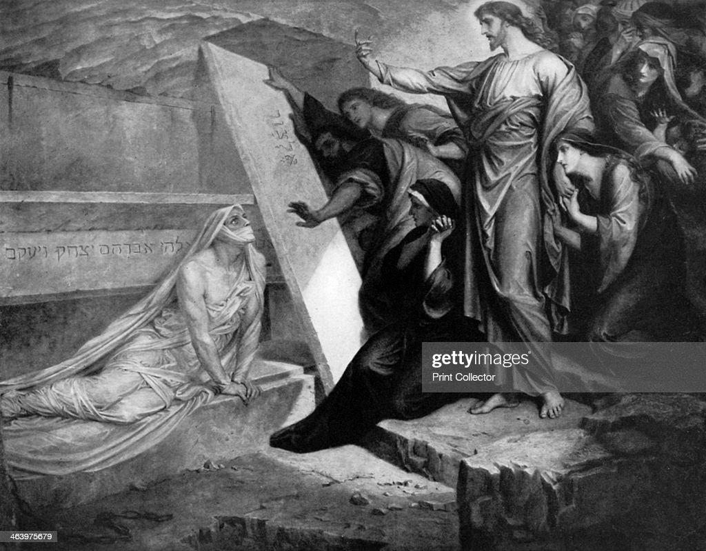 'The Raising of Lazarus', 1926.Artist: Frederic Shields : News Photo