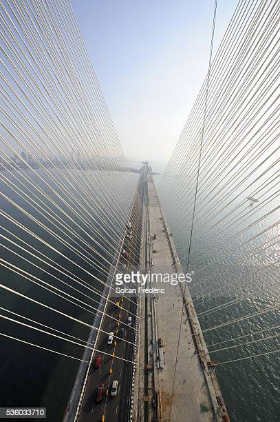 The Rajiv Gandhi Sea Link Project in Mumbai