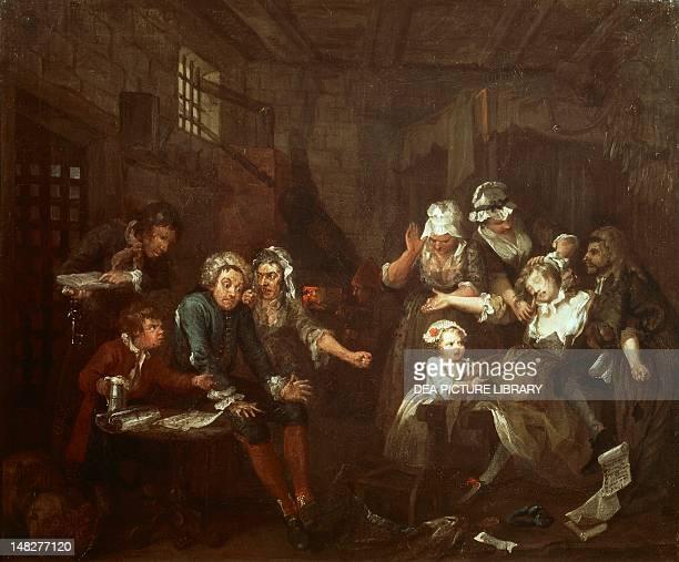 The rake's progress the prison scene by William Hogarth London Sir John Soane'S Museum