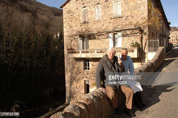 The rally of MonteCarlo back through Antraigues small village of Ardeche in Antraigues Sur Volane France on January 10 2007 Jean Ferrat and...