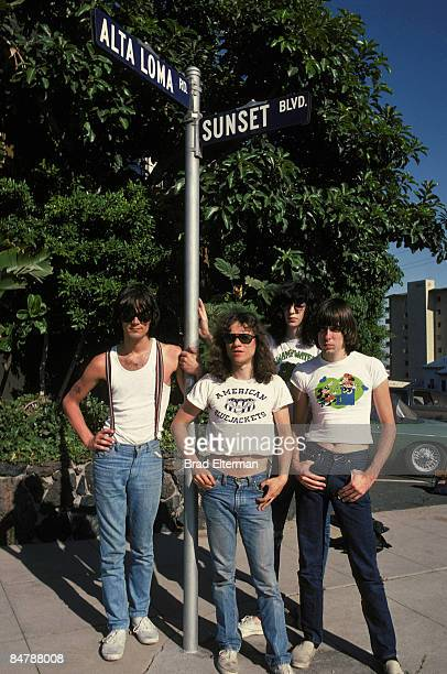LOS ANGELES JANUARY 01 1978 The Ramones in West Hollywood circa 1978 in Los Angeles California **EXCLUSIVE**