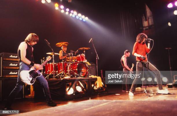 April 12, 1980: The Ramones perform in concert April 12, 1980 at the Warfield Theater in San Francisco, California.