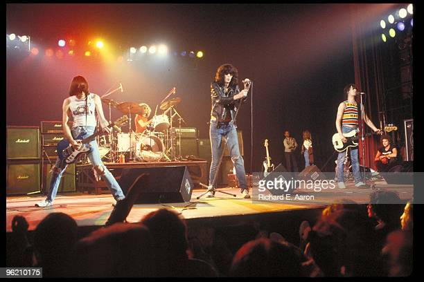 The Ramones perform live on stage at The Palladium, New York on January 07 1978 L-R Johnny Ramone Tommy Ramone Joey Ramone Dee Dee Ramone
