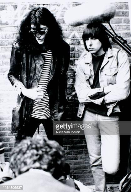 The Ramones, portrait, backstage, Paradiso, Amsterdam, Netherlands, 6th August 1988.
