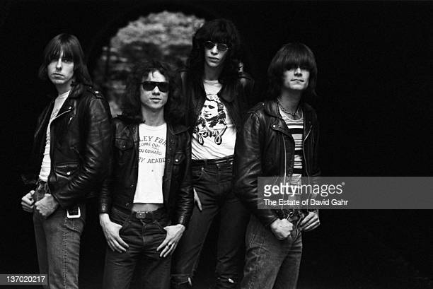 The Ramones pose for a portrait on June 2 1976 in New York City New York