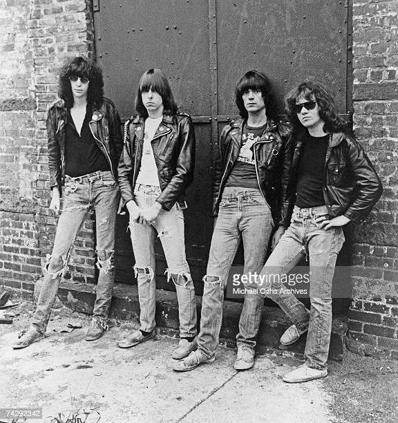 The Ramones pose for the cover of their 3rd album 'Rocket To Russia' released on November 4 1977