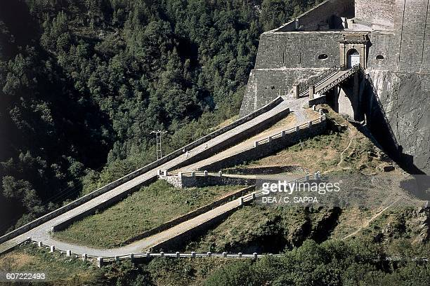 The ramp leading to Exilles Fort Susa Valley Piedmont Italy 14th19th century