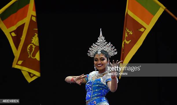 The Rangana and Udumbara Dance Troupe take part in Sri Lanka's performance at the opening ceremony ahead of the ICC 2015 Cricket World Cup at the...