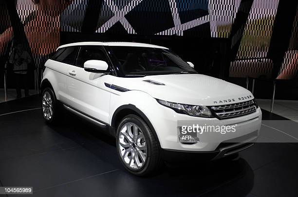 The Range Rover Evoque is presented at the Paris Auto Show on the first day of the twoday press days on September 30 2010 The show will open to the...