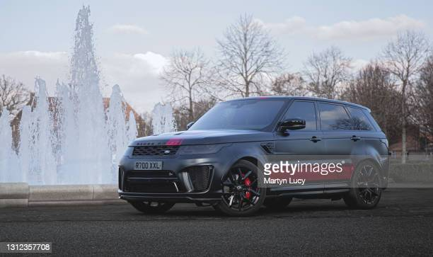 The Range Rover SVR on February 27,2021 in Letchworth, Hertfordshire.