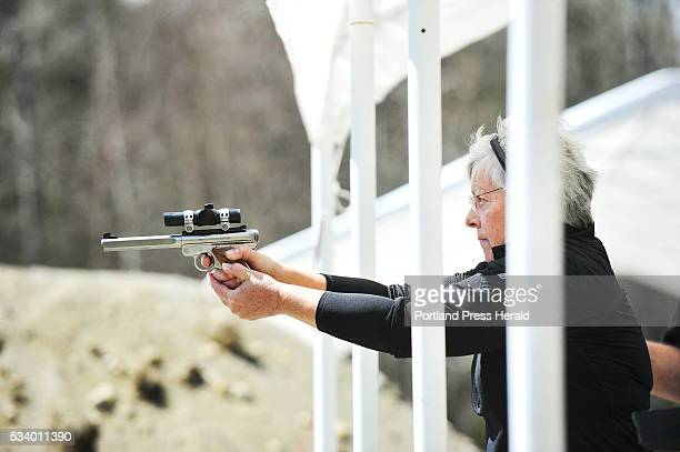 The Rangeley Region Guide and Sportsman's Association hosted a qualifying site for a new reality cable show American Marksman Sheri Oldham shoots her...