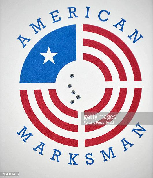 The Rangeley Region Guide and Sportsman's Association hosted a qualifying site for a new reality cable show American Marksman A paper target shows...