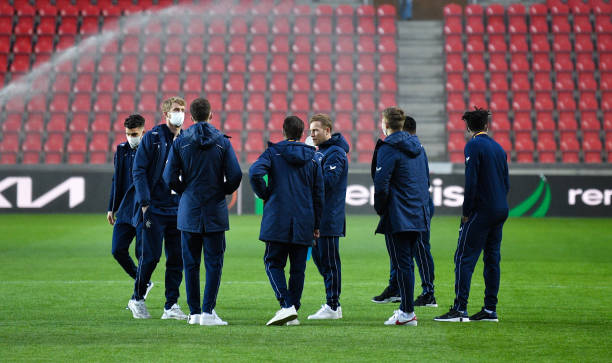 CZE: Slavia Praha v Rangers - UEFA Europa League Round Of 16 Leg One