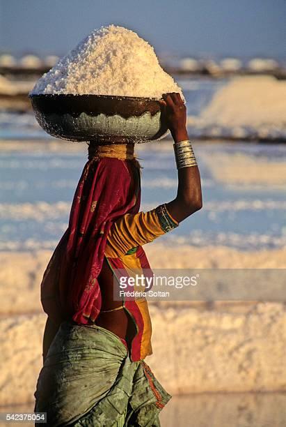 The Rann of Kutch is a seasonally marshy region where the Koli community after the monsoon work in the salt evaporation ponds | Location Rann of...