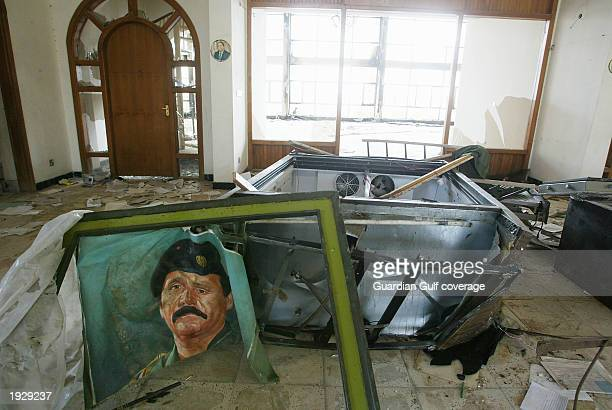 The ransanked house of Mohammed Hamza Zubeidi on April 13 2003 in Baghdad Iraq Zubeidi is on the US wanted list