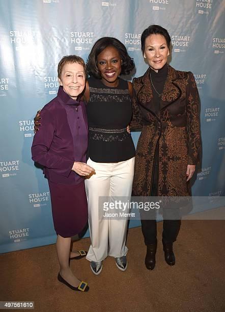 The Rape Foundation President Gail Abarbanel actress Viola Davis and philanthropist Cheryl Saban attend The Rape Foundation's Dedication Ceremony for...