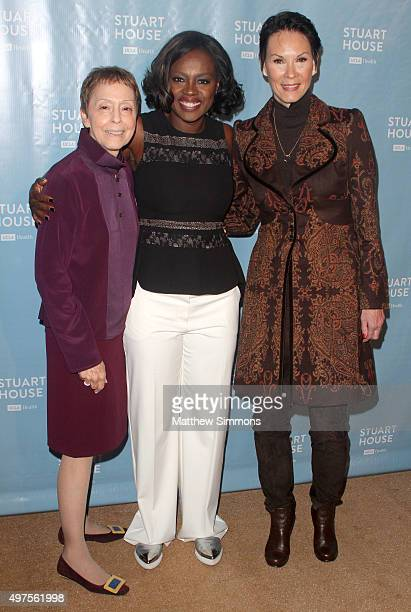 The Rape Foundation President Gail Abarbanel actress Viola Davis and philanthropist Cheryl Saban attend the Rape Foundation's dedication of the...