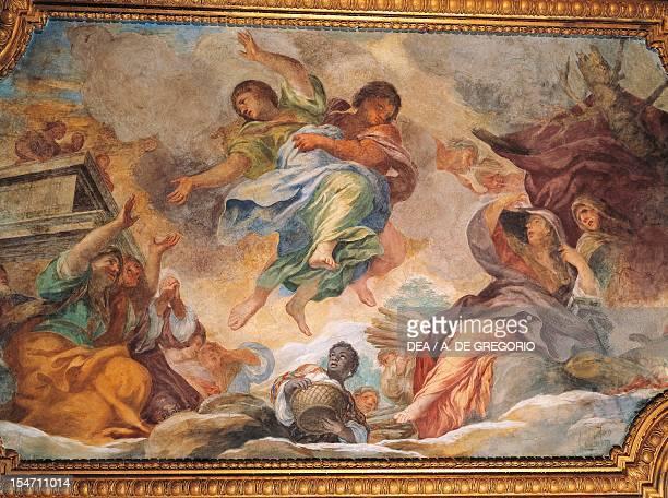 The rape of Proserpina fresco by Ciro Ferri in the Winter Hall at Villa Falconieri La Rufina Frascati Italy 16th17th century