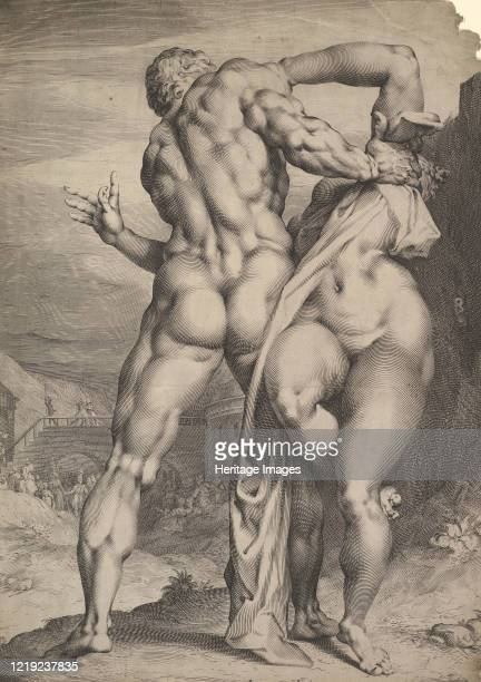 The Rape of the Sabine Women, circa 1627. Artist Jan Muller.