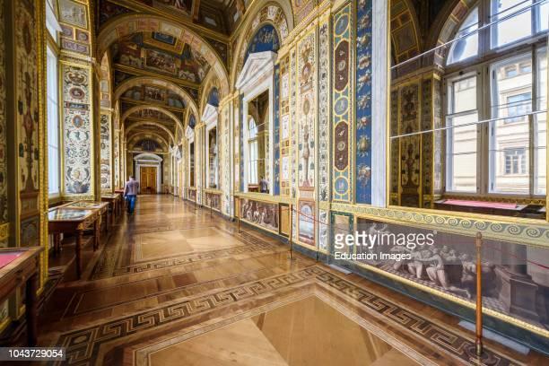 The Raphael Loggias at Hermitage Museum, Saint Petersburg, Russia.
