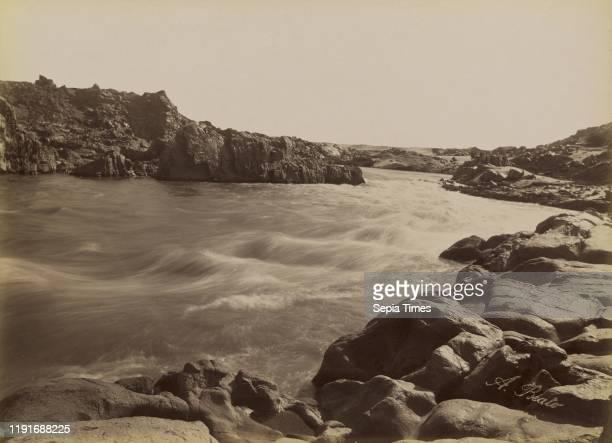 The Rapid of the First Cataract / Le Rapide de la Premiere Cataracte, Antonio Beato , 1880 - 1889, Albumen silver print, 26 x 35.9 cm