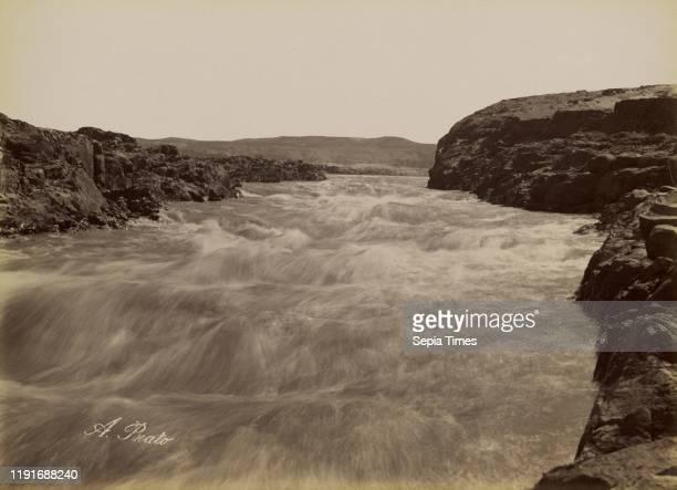 The Rapid of the First Cataract / Le Rapide de la Premiere Cataracte, Antonio Beato , 1880 - 1889, Albumen silver print, 26.1 x 36 cm