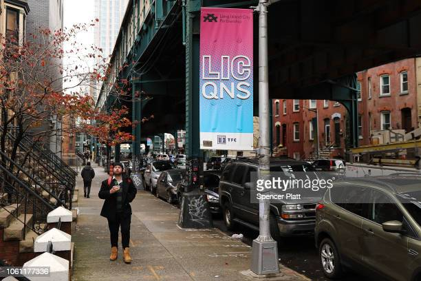 The rapidly developing area known as Long Island City in the borough of Queens is seen on November 13 2018 in New York City Amazon announced today...