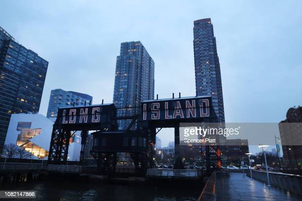 The rapidly developing area known as Long Island City in the borough of Queens is seen on December 13 2018 in New York City Amazon announced last...