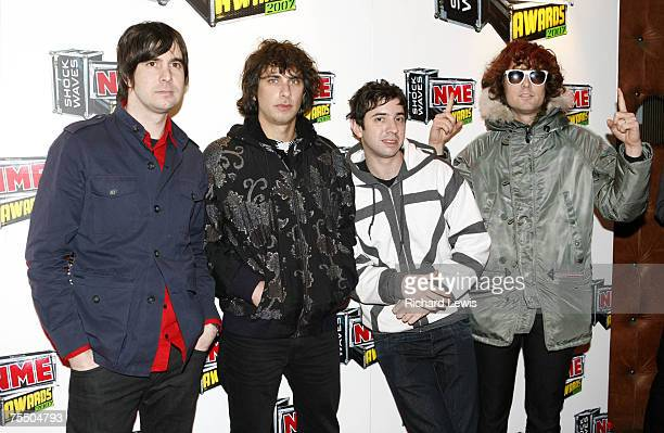 The Rapture arrive at the Shockwaves NME Awards 2007 at the Hammersmith Palais in London United Kingdom