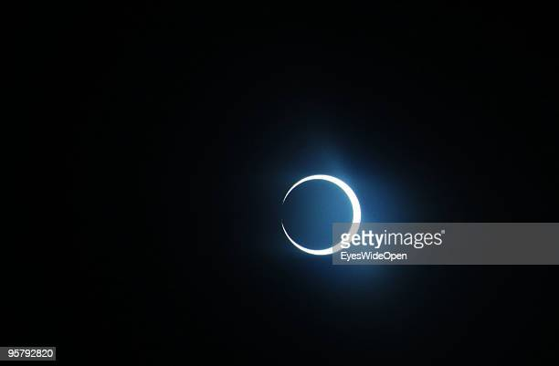 The rare Annular Solar Eclipse the longest in the third millennium on January 15 2010 at the central stadium of Thiruvananthapuram in Kerala South...