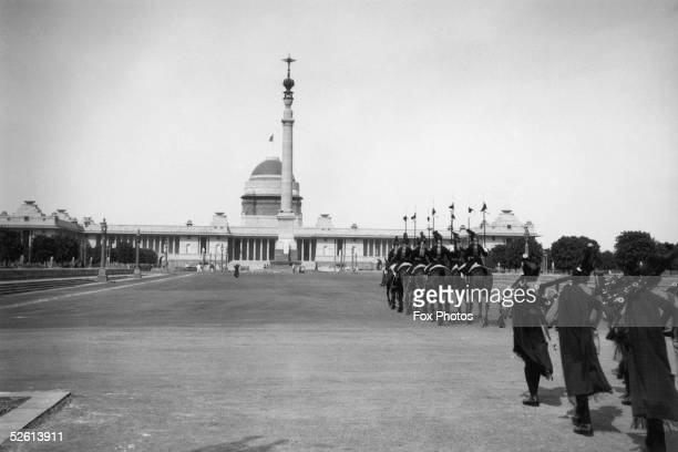 The Rashtrapati Bhavan in New Delhi, the official residence of the Viceroy of India and later the President of India, 1934. Designed by Sir Edwin...
