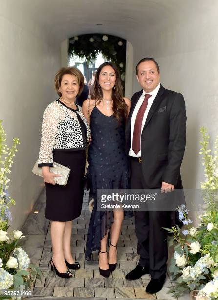 The Rastegar family attends Alexa Dell and Harrison Refoua's engagement celebration at Ysabel on May 12 2018 in West Hollywood California