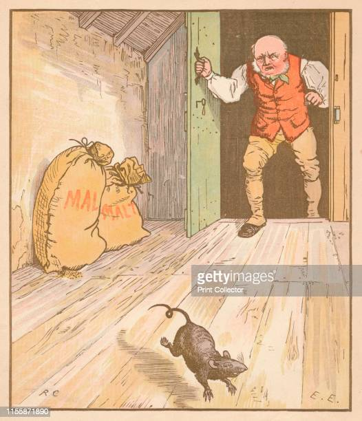 The rat ate the malt' circa 1878 From The House that Jack Built illustrated by Randolph Caldecott [London circa 1878] Artist Randolph Caldecott