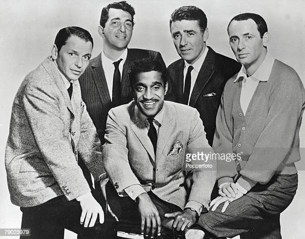 The Rat Pack pose for a photo group August 1960 They are LR Frank Sinatra Dean Martin Sammy Davis Junior Peter Lawford and Joey Bishop