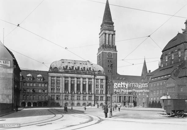The Rathaus in Kiel Germany circa 1920