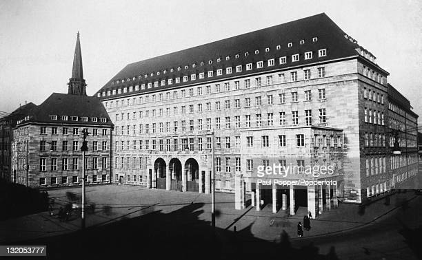 The rathaus or city hall in Bochum Germany circa 1900 Built between 1927 and 1931 it was damaged during World War II