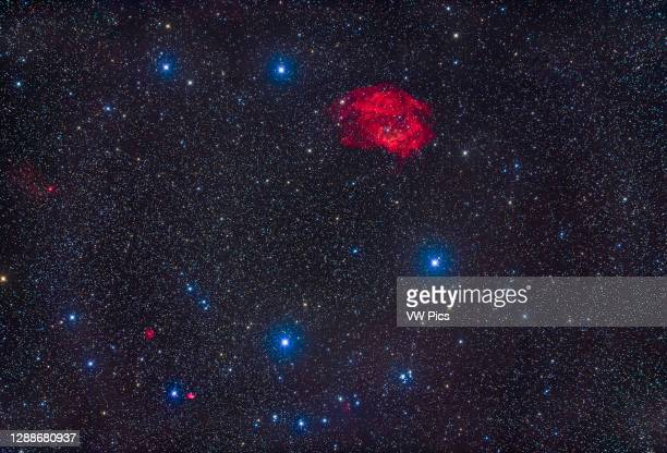 The rather obscure emission nebula catalogued as Sharpless 2-261, at top, but commonly known as Lower's Nebula after the father and son team of...