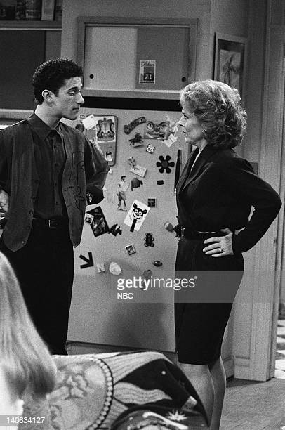 YEARS The Rave Episode 15 Air Date Pictured Dustin Diamond as Screech Powers Holland Taylor as Dean Susan McMann Photo by Frank Carroll/NBCU Photo...