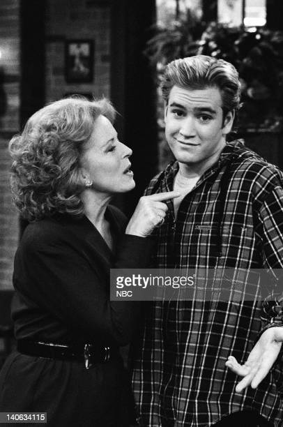 YEARS 'The Rave' Episode 15 Air Date Pictured Holland Taylor as Dean Susan McMann MarkPaul Gosselaar as Zack Morris Photo by Frank Carroll/NBCU Photo...