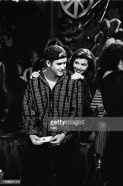 YEARS 'The Rave' Episode 15 Air Date Pictured MarkPaul Gosselaar as Zack Morris Tiffani Thiessen as Kelly Kapowski Photo by Frank Carroll/NBCU Photo...